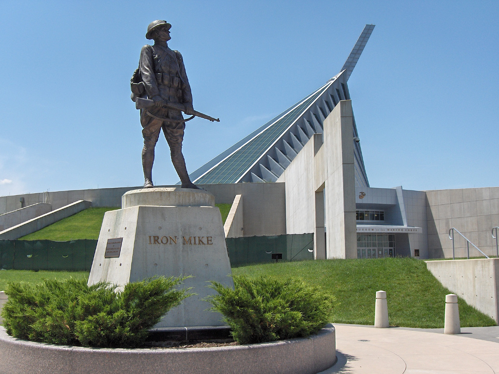 Iron Mike in front of the NMMC