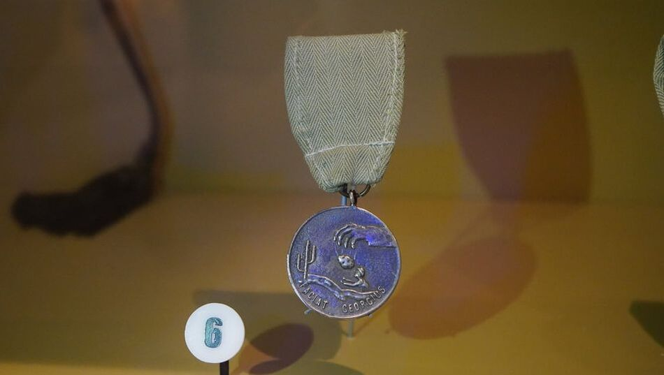 The George Medal currently on display at NMMC