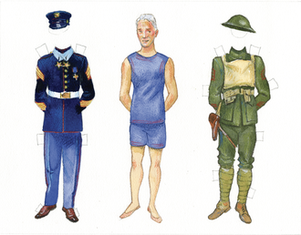 WWI Paper Doll Sheet