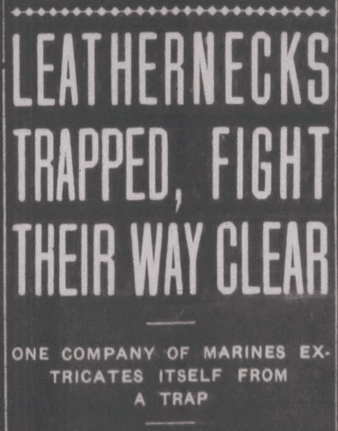 Leathernecks Trapped newspaper