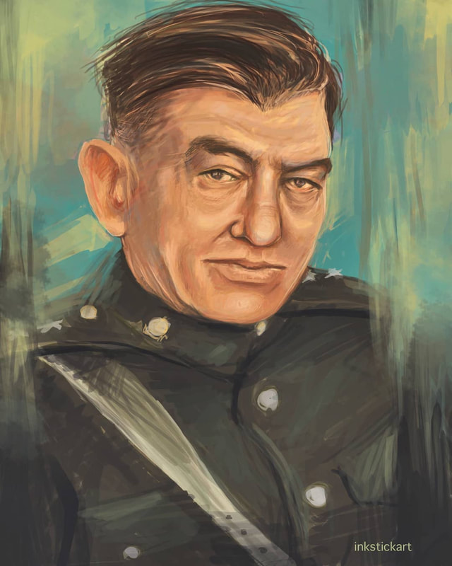 Painting of LtGen. John A. Lejeune, 13th Commandant of the Marine Corps