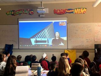 Distance Learning program with Teacher In Residence Laura Shaw